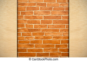 red brick wall - red brick old wall and wood as the...