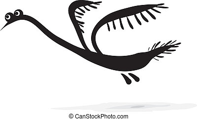 Simple sketch - bird on a white