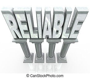 Reliable Word on Columns Dependable Durability - The word...