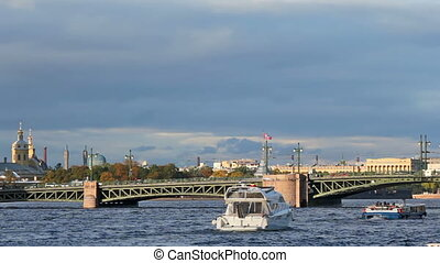 Palace Bridge and Kunstkamera, Saint Petersburg, Russia