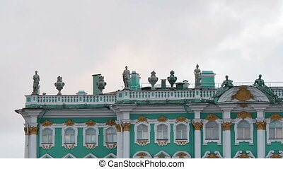 The upper part of the Winter Palace