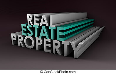 Real Estate Property in the Property Sector in 3d