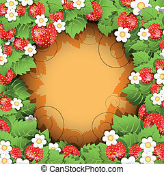 Strawberry Background - floral background with red flowers...