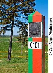 Belorussian frontier marker - Frontier marker of the...