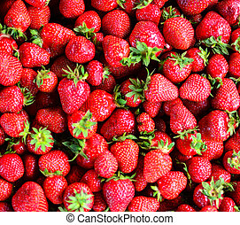 Fesh strawberry background