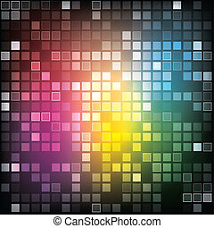 EPS10 Abstract shiny rectangles background - illustration