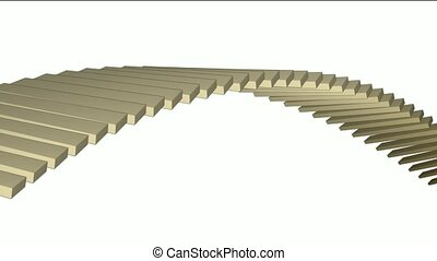 square box shaped arch bridge,math geometry array,conveyor...