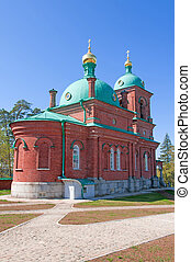 Great monasteries of Russia. Island Valaam. Resurrection...
