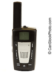 Two Way Radio - Two way radio isolated on a white...