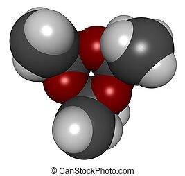 acetoneperoxide TATP - 3D molecular structure of acetone...