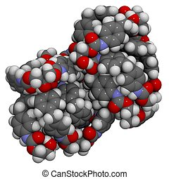 Polyurethane PUR - Molecular structure of a particle,of...