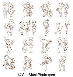 Wedding Doodles - Design Elements - for Scrapbook,...