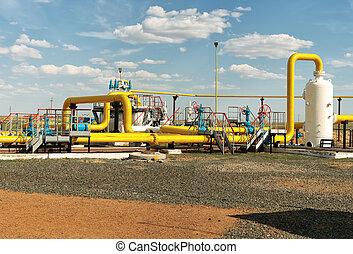 Process unit gaz. - Process unit for gas processing, the...