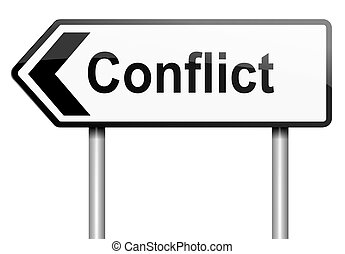 Conflict concept.