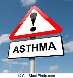 Asthma concept. - Illustration depicting a road traffic sign...