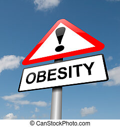 Obesity concept - Illustration depicting a road traffic sign...