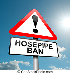 Hose pipe ban warning.