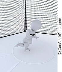 man throwing a discus