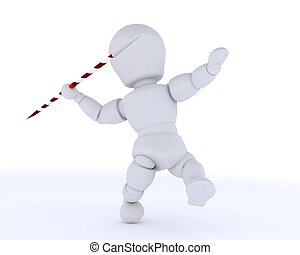 man throwing the javelin