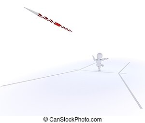 man throwing the javelin