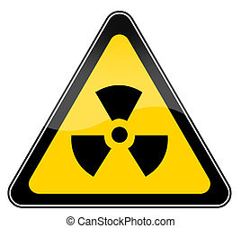 Radiation sign isolated on white