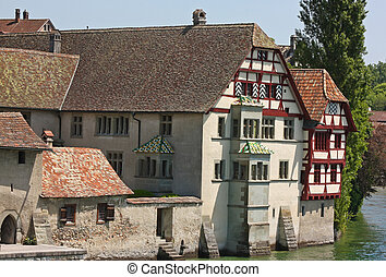 Stein am Rhein, Switzeland - With many medieval halftimbered...