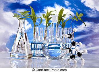 Biotechnology - Experimenting with flora in laboratory