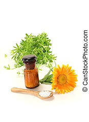 Homeopathy with marigold - Homeopathy globules, an...