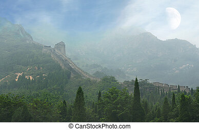 The Great Wall of China, a horizontal picture