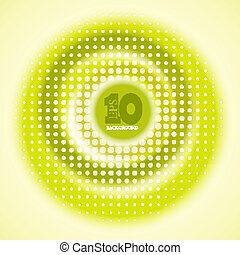 Vector creative circle yellow background. Eps10