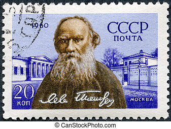 USSR - CIRCA 1960: A stamp printed in USSR shows Russian...