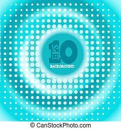 Vector creative circle blue background. Eps10