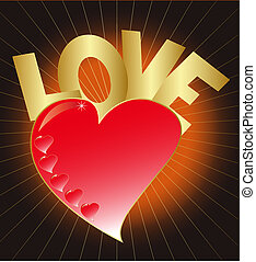 Heart with love *** Local Caption ***  Heart with love