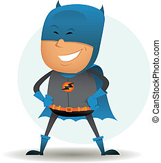 cartoon-comic-super-hero-six - Illustration of a funny...