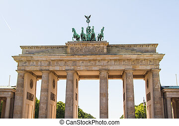 The Brandenburger Tor (Brandenburg Gate) is the ancient...