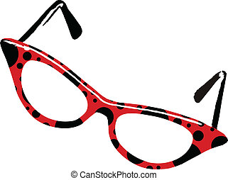 Ladybug Glasses - Scalable vectorial image representing a...