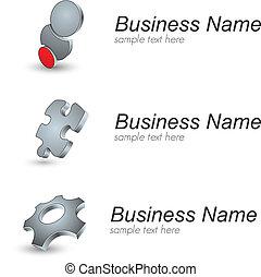 Logo - 3D logo collection, vector illustration.