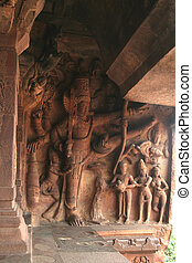 Sculpture on Wall - Sculpture depicting Vamanavatara- one of...