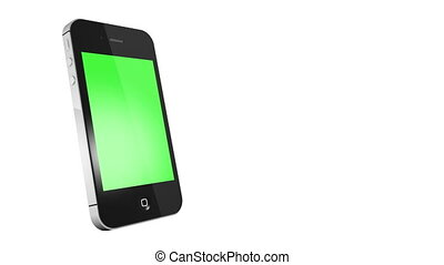 smart phone with green screen