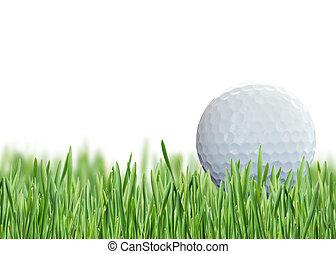 Golf on green grass