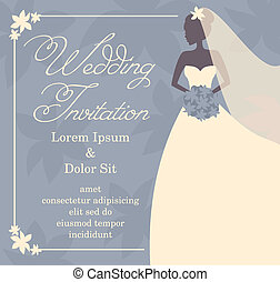 Wedding Invitation - Wedding invitation template with...