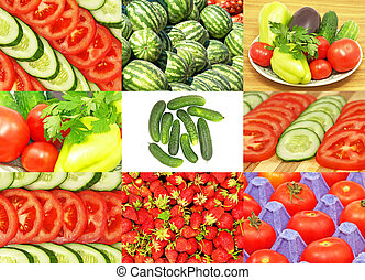 Vegetables collage.