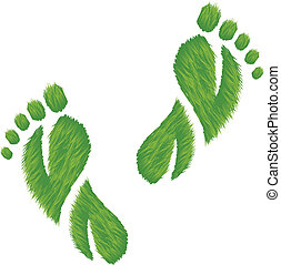 Eco Friendly Footprints Illustratio - Vector illustration of...