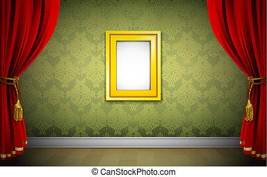 Photo Frame on Wallpaper