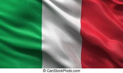 Seamless Italian Flag - Flag of Italy waving in the wind -...