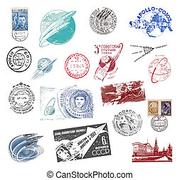 Postage stamps and labels from the former Soviet Union -...