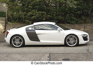 Sports Coupe - Audi R8 parked in Surburban Sydney Australia...