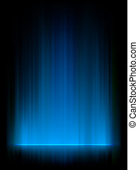 Blue northern lights, aurora borealis EPS 8 vector file...