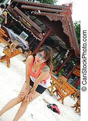 asian woman sexy beautiful in Thailand