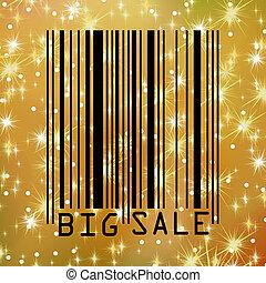 Big Sale gold bar codes. EPS 8